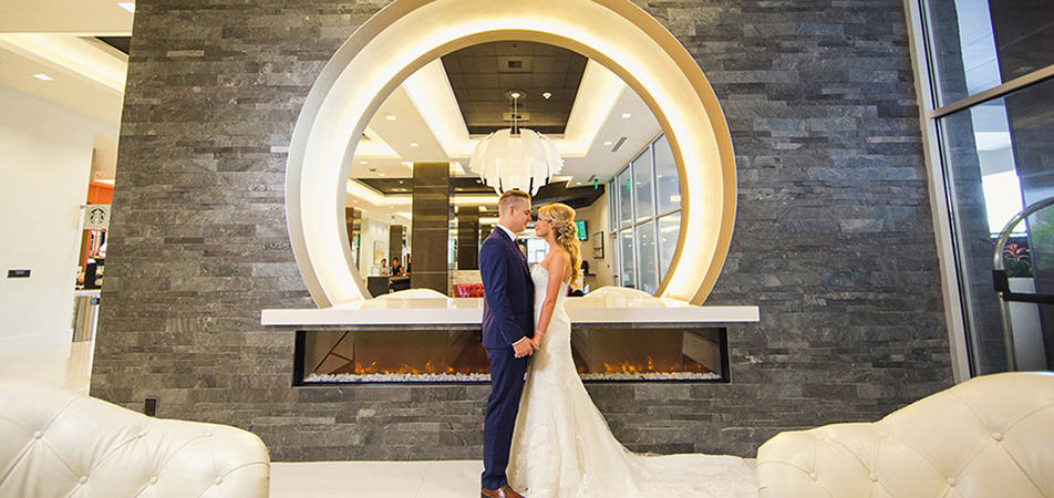 Davenport Grand | Bride and Groom In Lobby