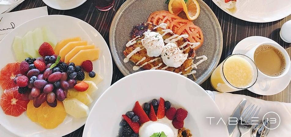 Davenport Grand | Table 13 Food | Breakfast