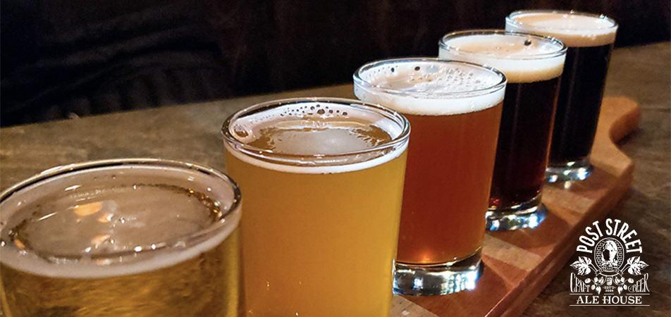 Davenport Lusso | Post street Ale House Beer Flight