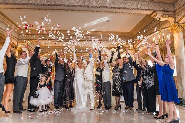 Wedding celebration | Throwing Petals