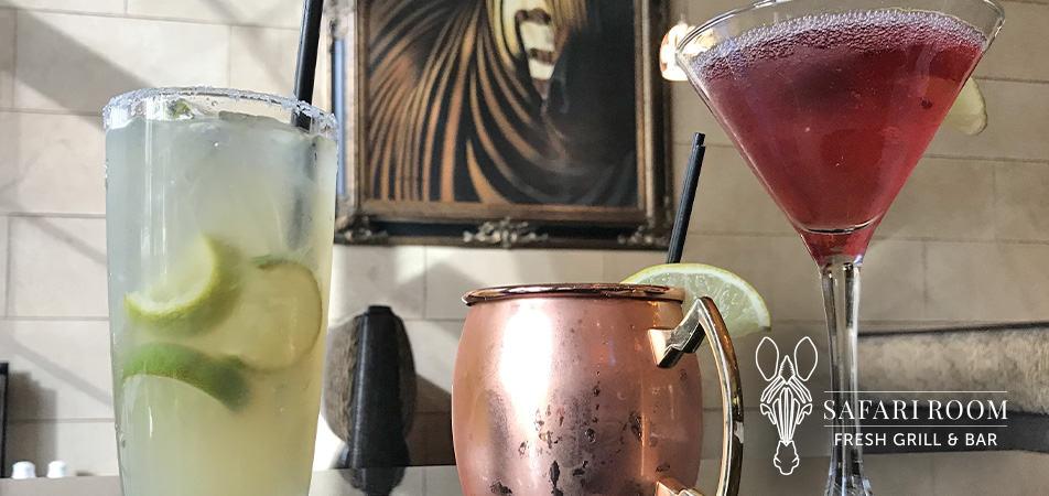 Bar Drinks | Safari Room Fresh Grill | Davenport Tower