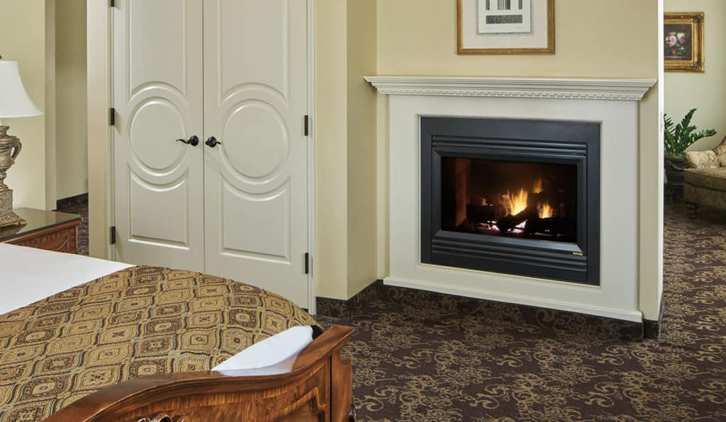 Fireplace in Cutter Suite | Historic Davenport