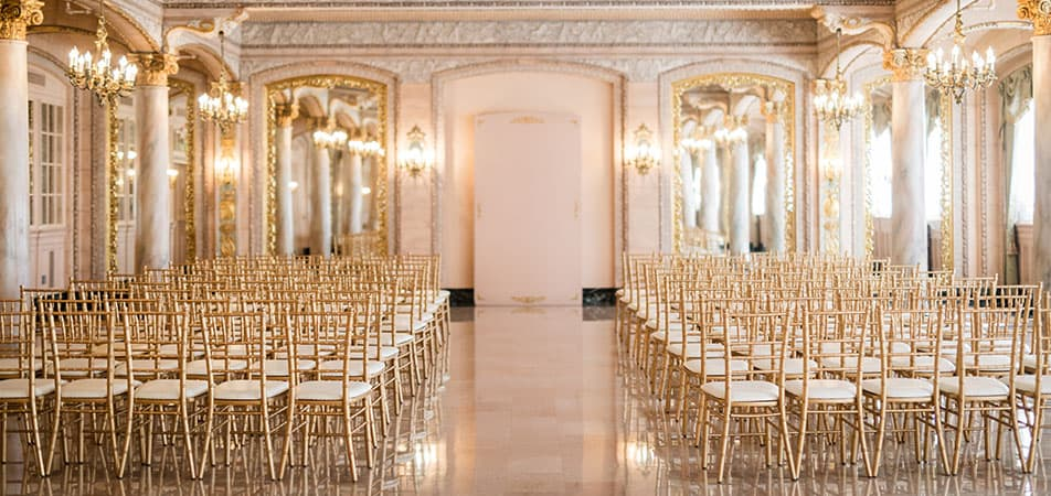 Isabella Room- Event/Wedding Hall with chairs | Historic Davenport