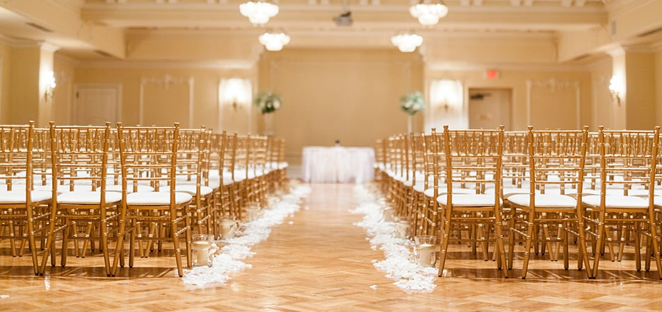 Early Bird Room set for a wedding | Historic Davenport