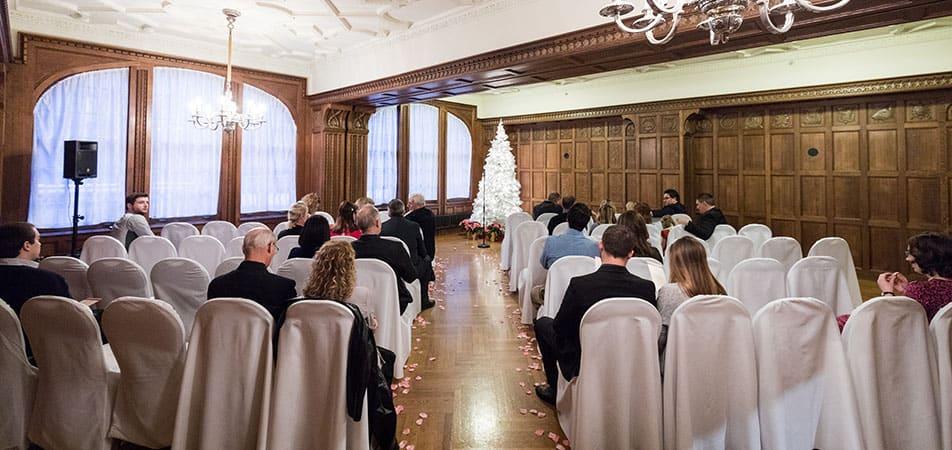 Elizabethan Event Hall   Historic Davenport   Wedding Setup