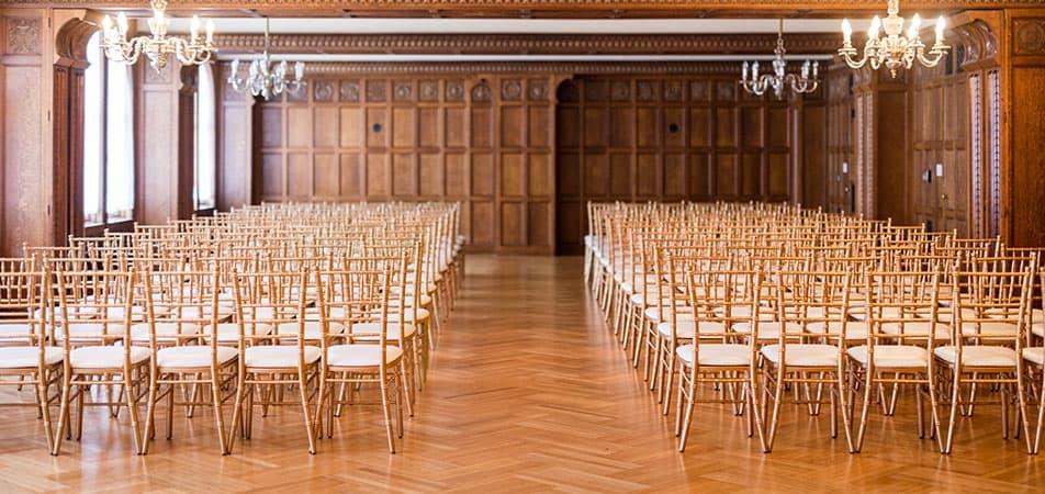 Elizabethan Event Hall | Historic Davenport | Chairs