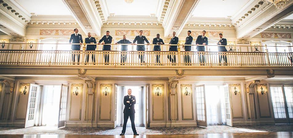 Marie Antoinette Event Hall | Historic Davenport | Groomsmen