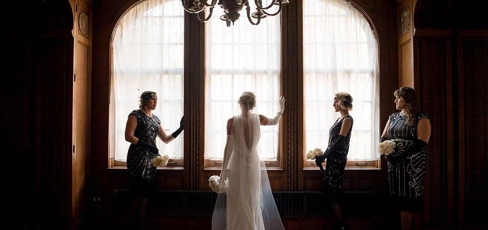 Elizabethan Event Hall   Historic Davenport   Bride and briesmades