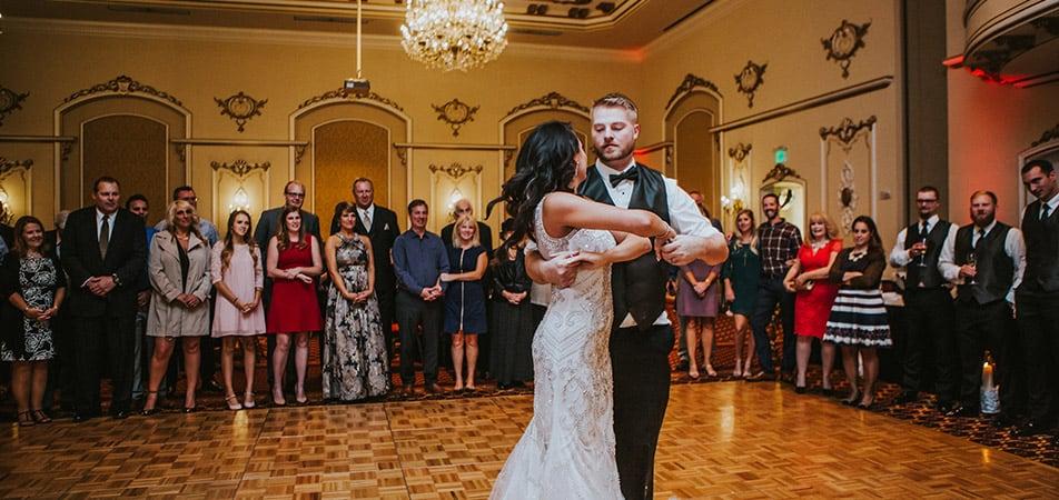 Pennington Ballroom | Historic Davenport | Wedding Dance