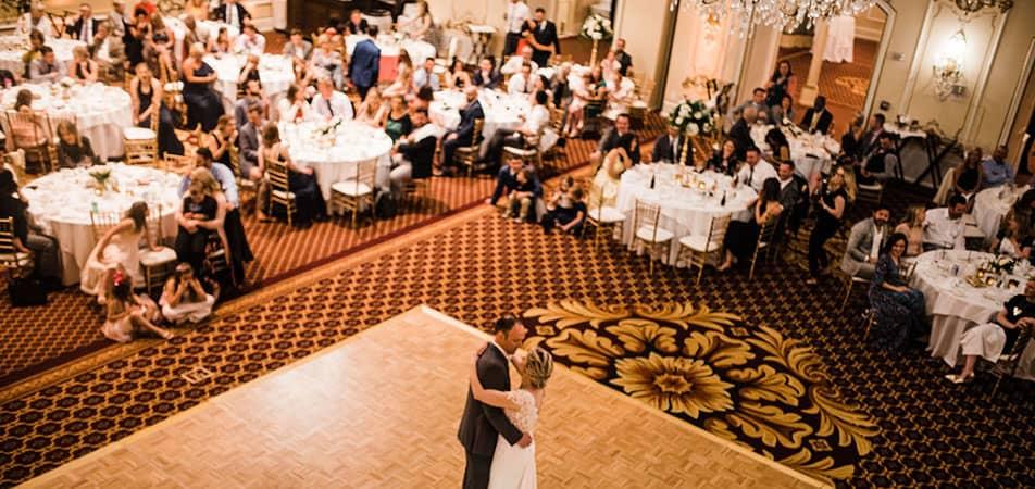 Pennington Ballroom - Set for Wedding | Historic Davenport