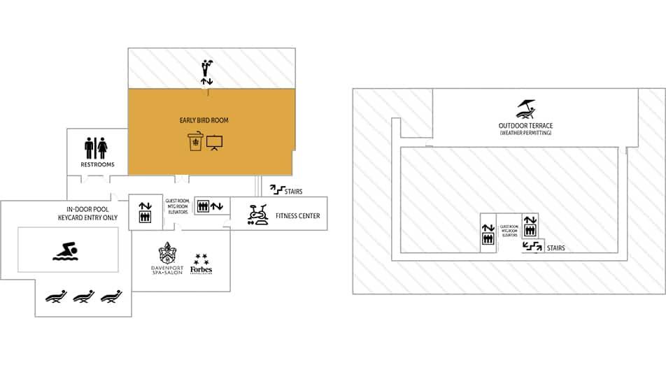 Early Bird Event Room Floor Plan | Historic Davenport