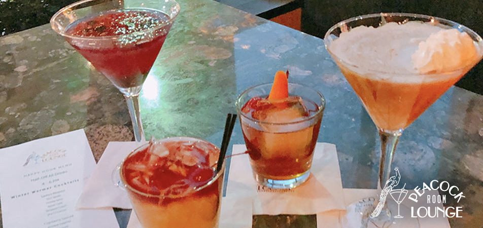 Drinks/Cocktails | Peacock Lounge | Historic Davenport