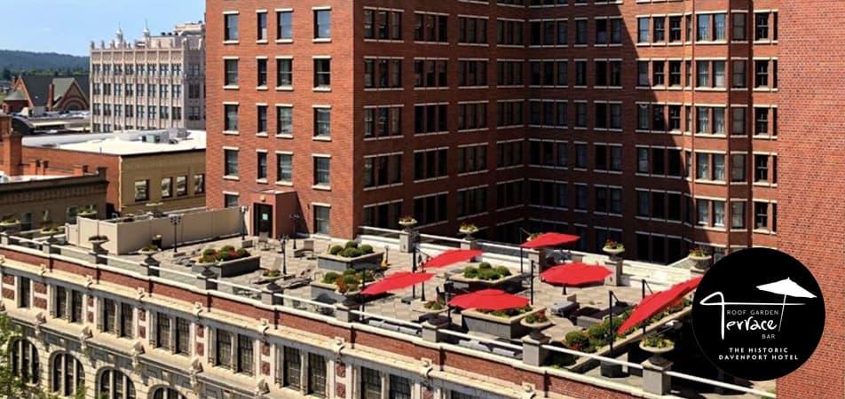 The Roof Garden Terrace Bar | Bird eye view | Historic Davenport