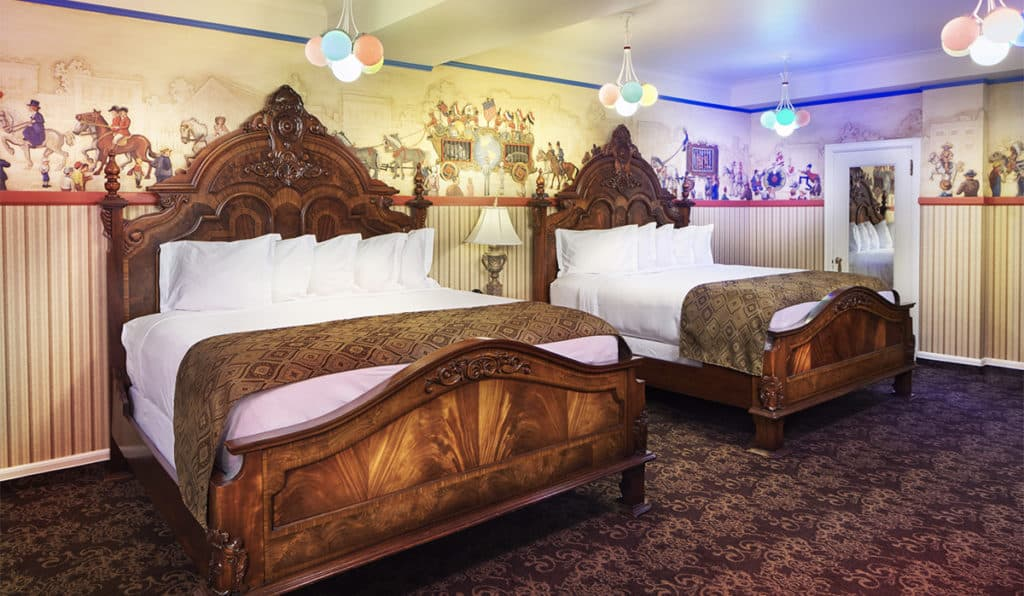 View of Beds | Circus Room | Historic Davenport