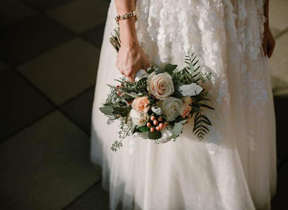 Wedding flowers and Bride