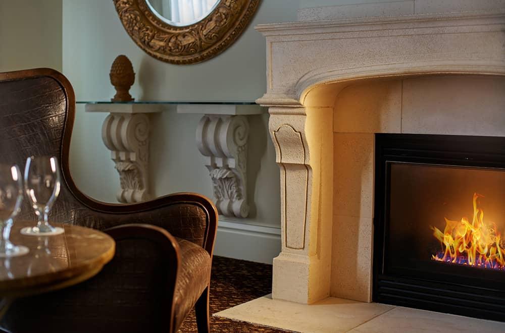 Davenport Lusso | Suite Fireplace
