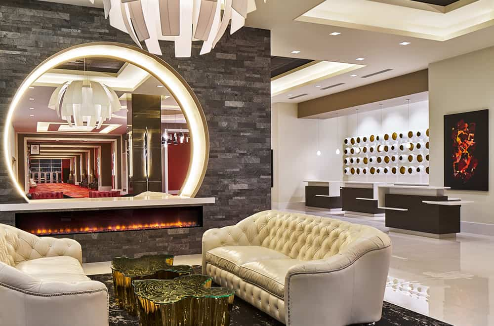 Davenport Grand | Lobby couches and Front Desk