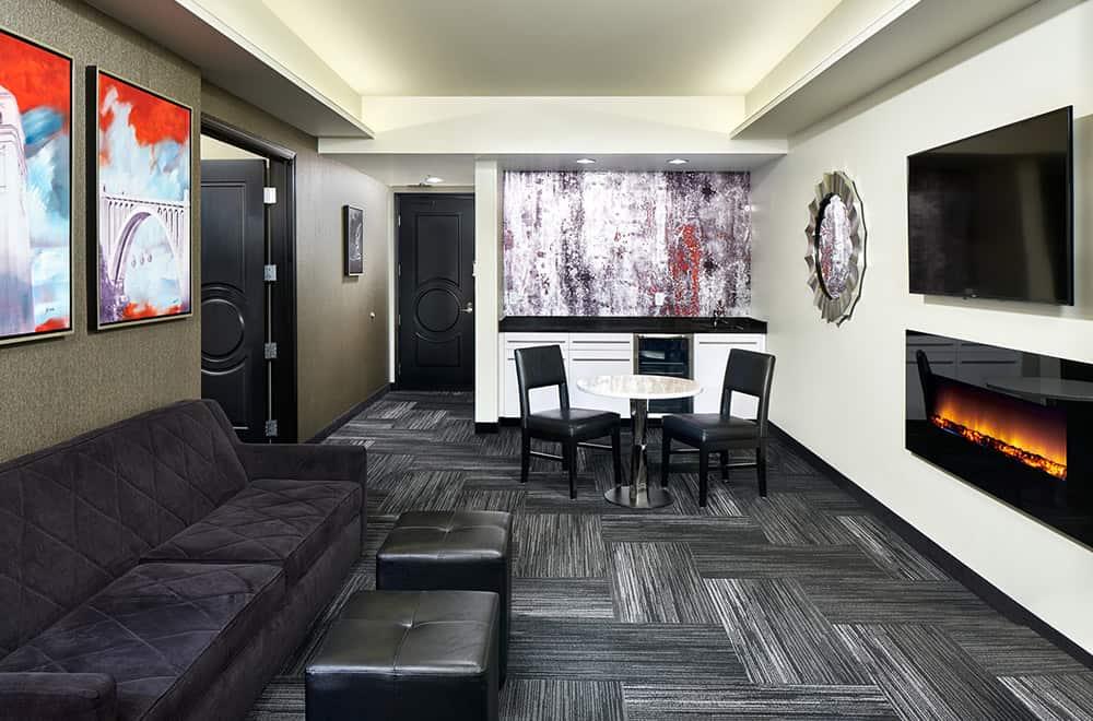 Davenport Grand | Living Room in Suite