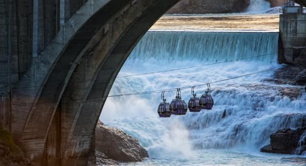 Gondolas over Spokane River