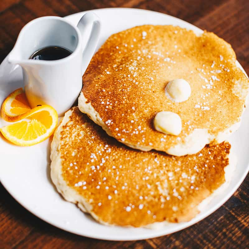 Food | Pancakes with Butter and syrup | Centennial | Dining