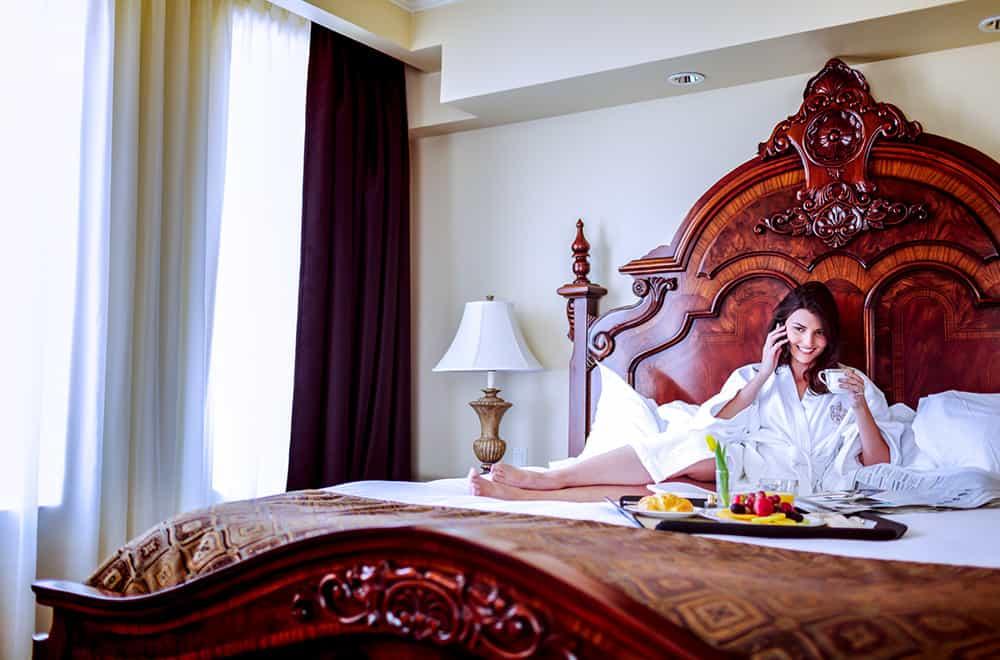 Room | Woman on bed | Play | Historic Davenport