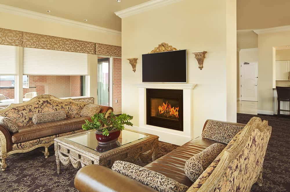 Living area | Couch and Fireplace | Rooms | Historic Davenport