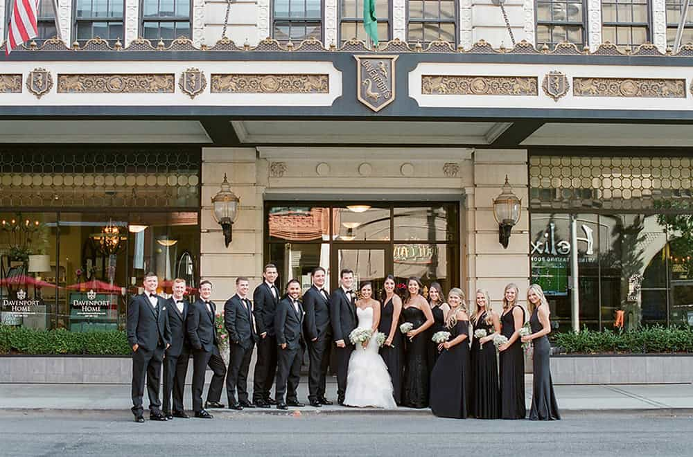 Wedding Part in front of hotel | Weddings | Historic