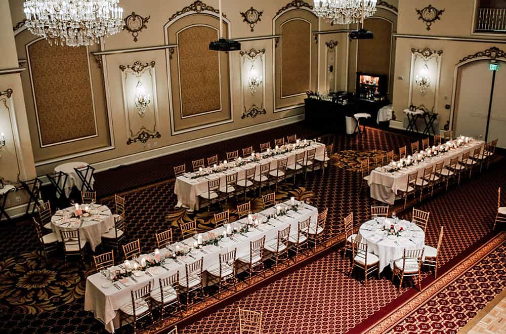 Wedding Hall Long Tables | Weddings | Historic