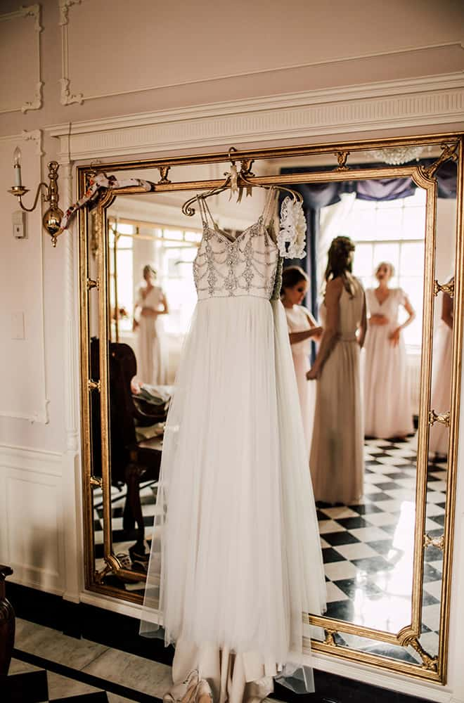 Bride's Dress Getting Ready | Weddings | Historic