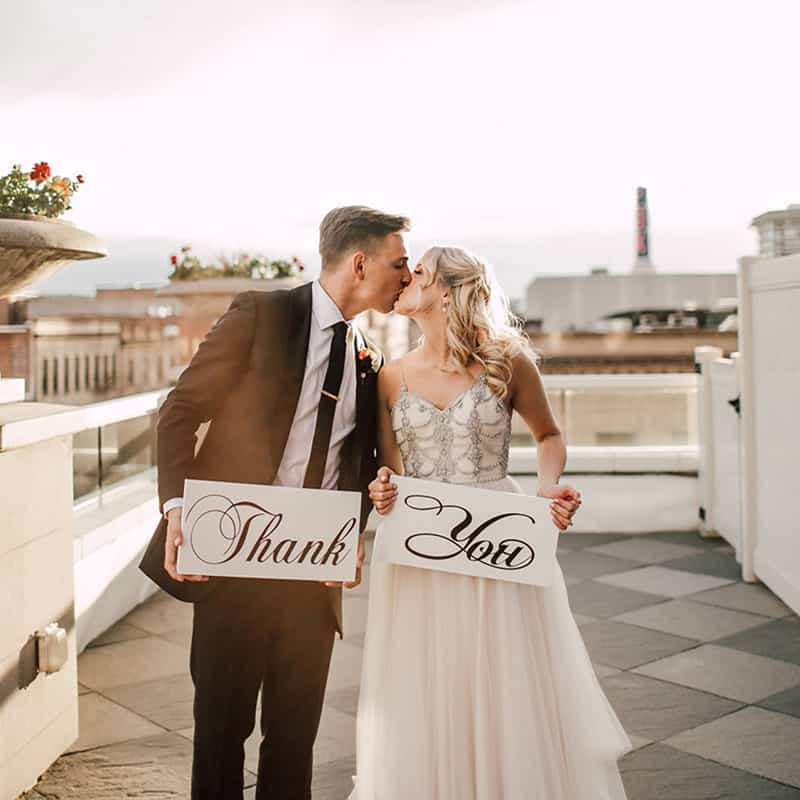 Bride and Groom Kiss | Weddings | Historic