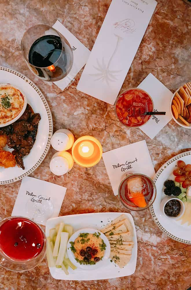 Food at Palm Court | Historic Davenport | Dining
