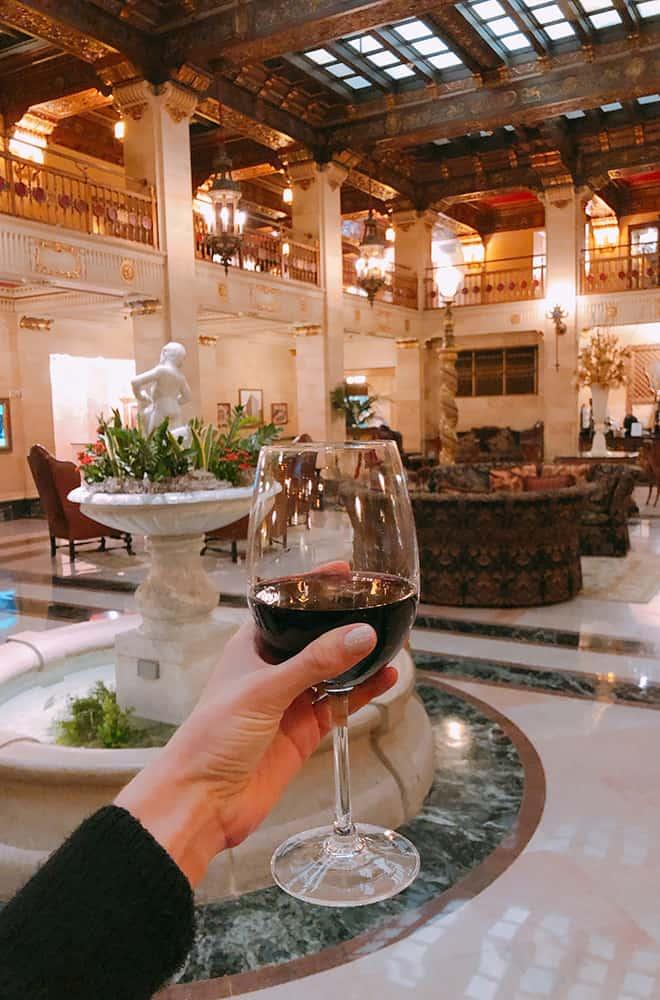 Drinks in Lobby | Historic Davenport | Dining