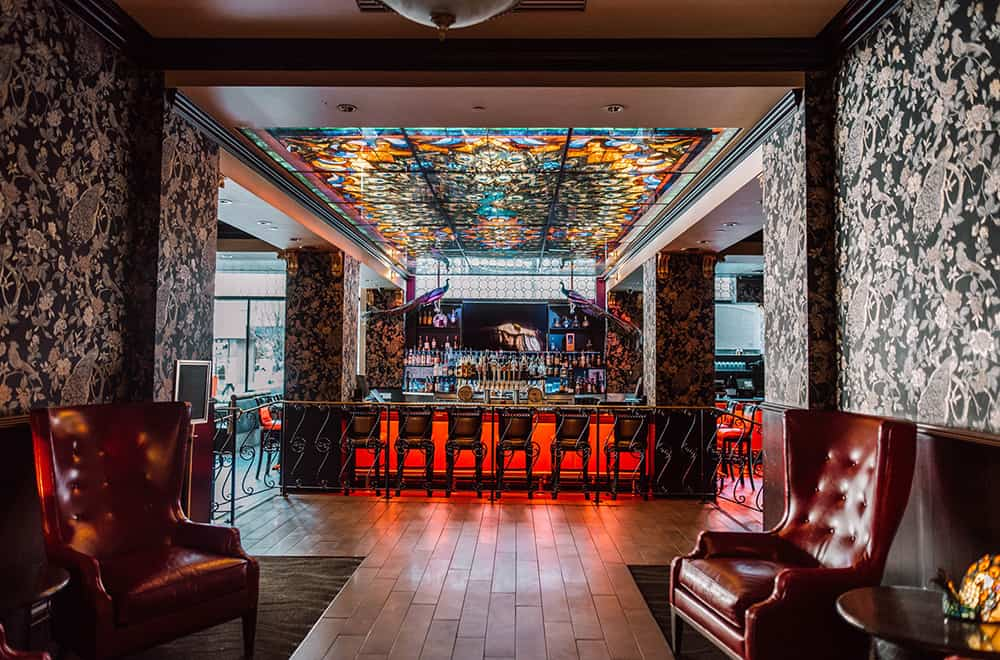 Inside Peacock Lounge | Historic Davenport | Dining