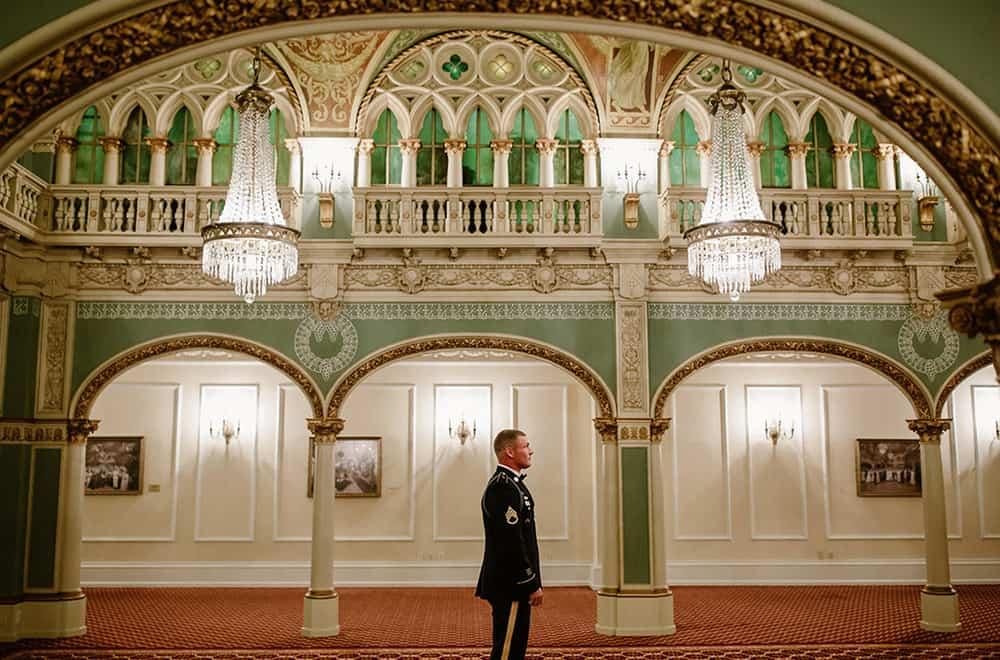 Groom in Wedding Hall | Weddings | Historic