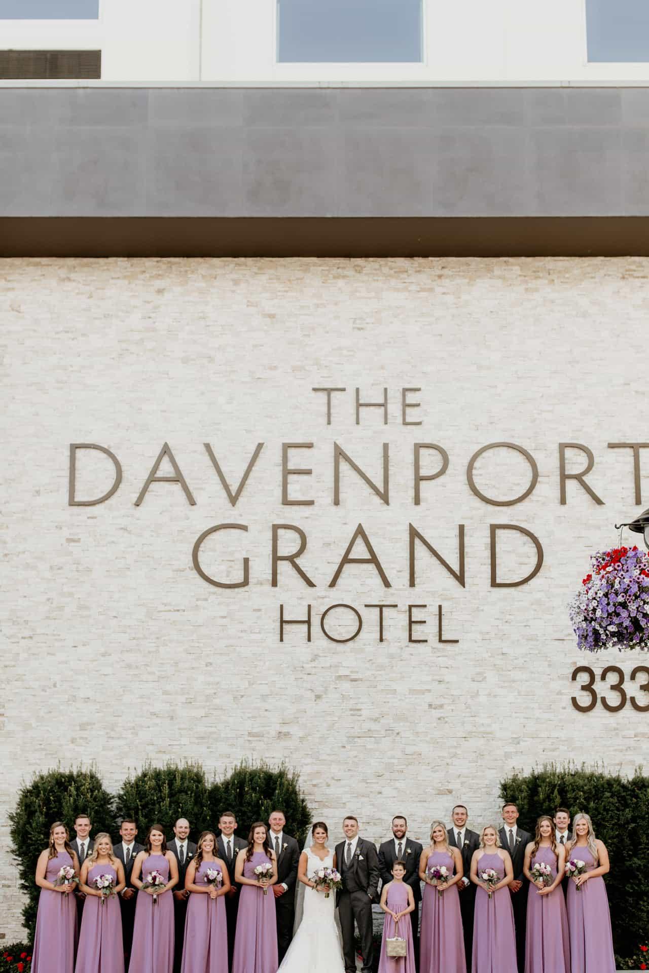 The Davenport Grand Wedding Photo