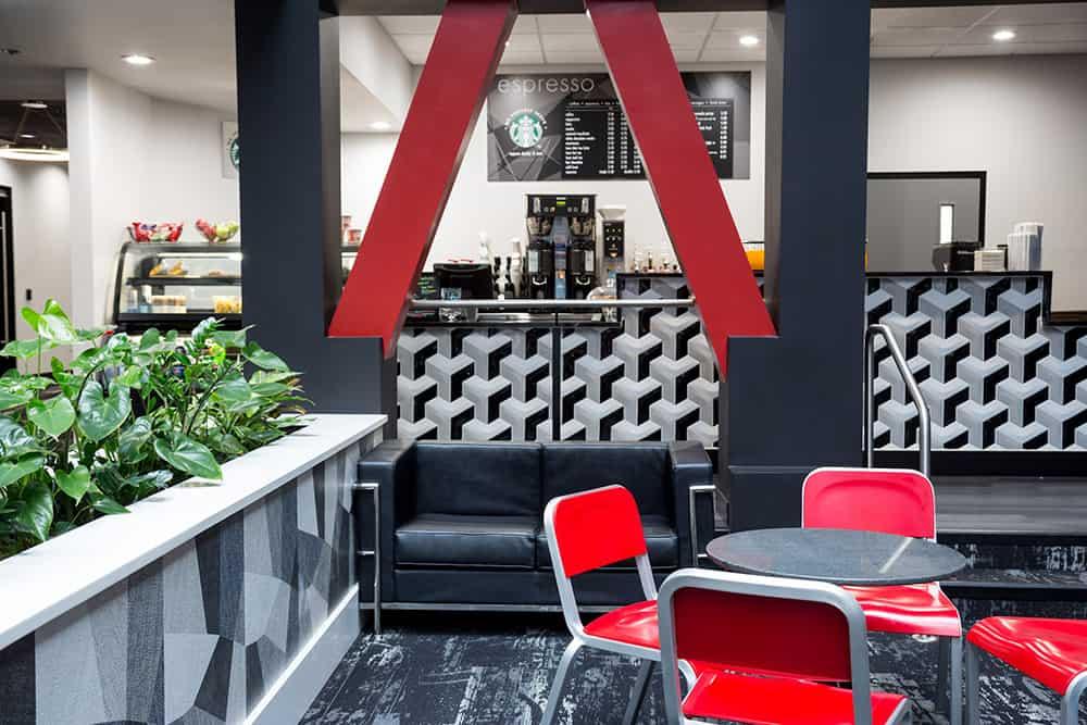 The Centennial | Lobby with Starbucks
