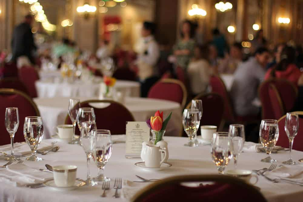 Dining room | Dinner place setting | Historic Davenport