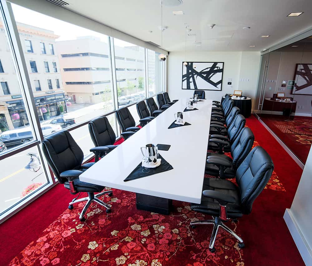 Meeting room with long business table and chairs | Davenport Grand