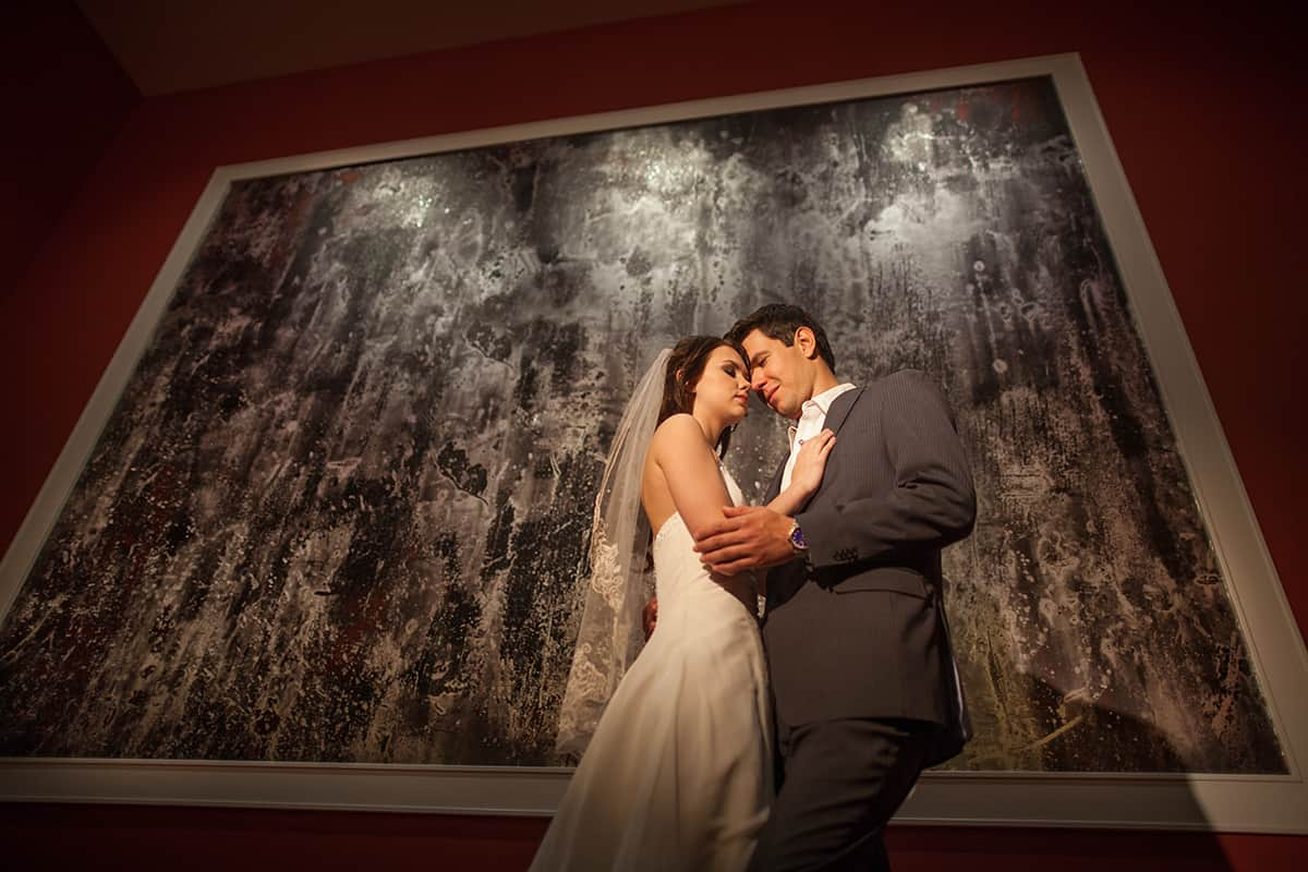 Bride and Groom by Large Picture | Davenport Grand