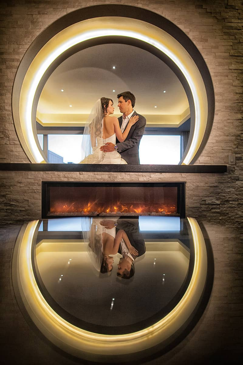 Bride and Groom in Lobby | Davenport Grand