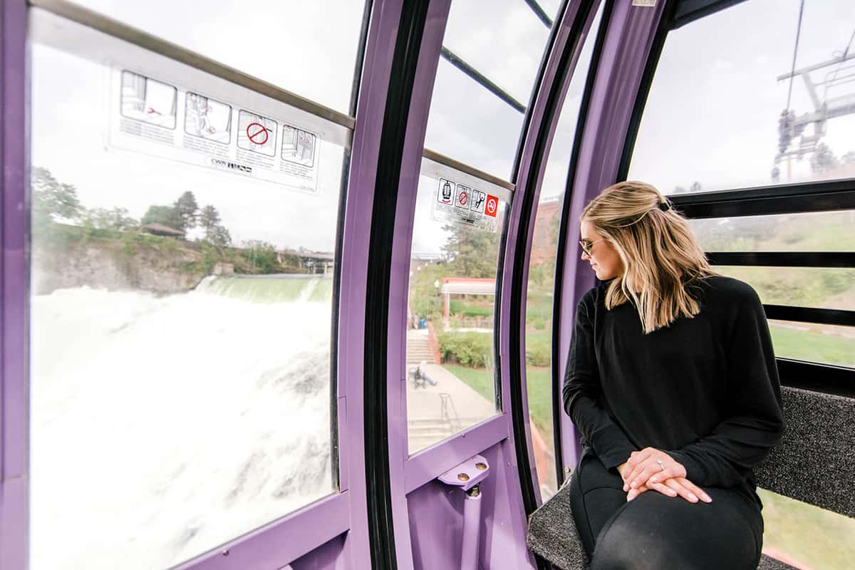 Women looking out window of Gondola | Davenport Grand