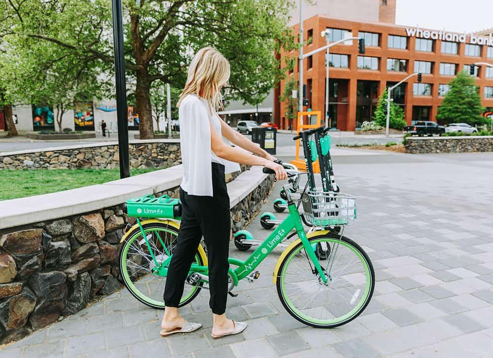 Women getting a bike in town | Davenport Centennial