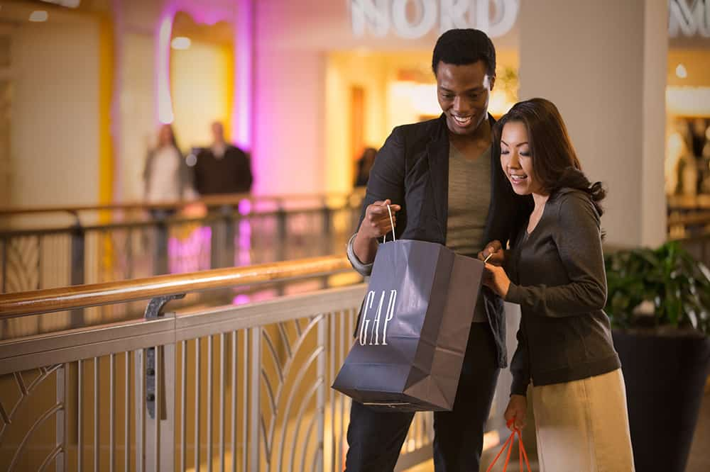 Couple in mall