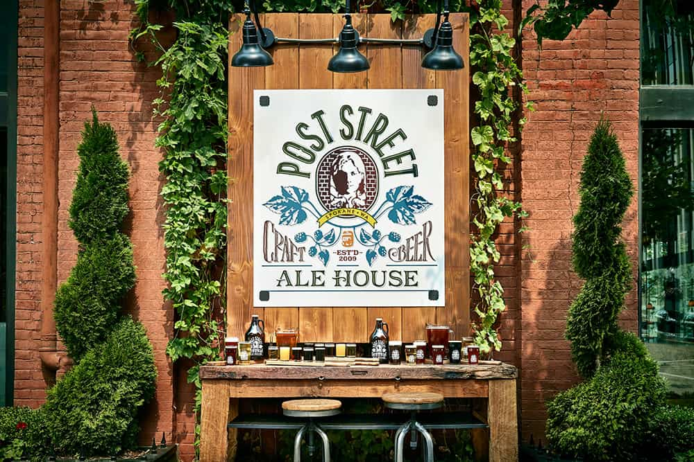 Post Street Ale House sign | Davenport Lusso