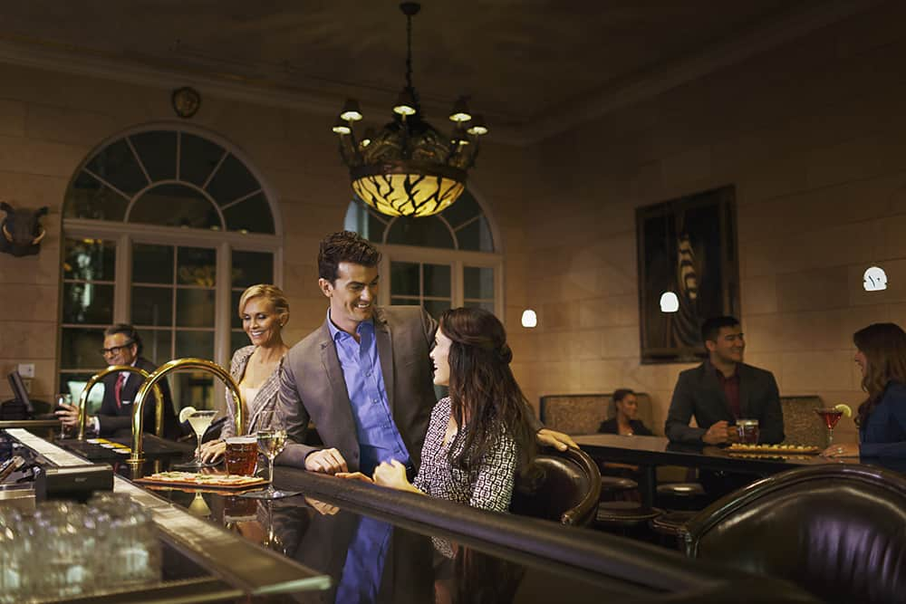 People at bar | Davenport Tower
