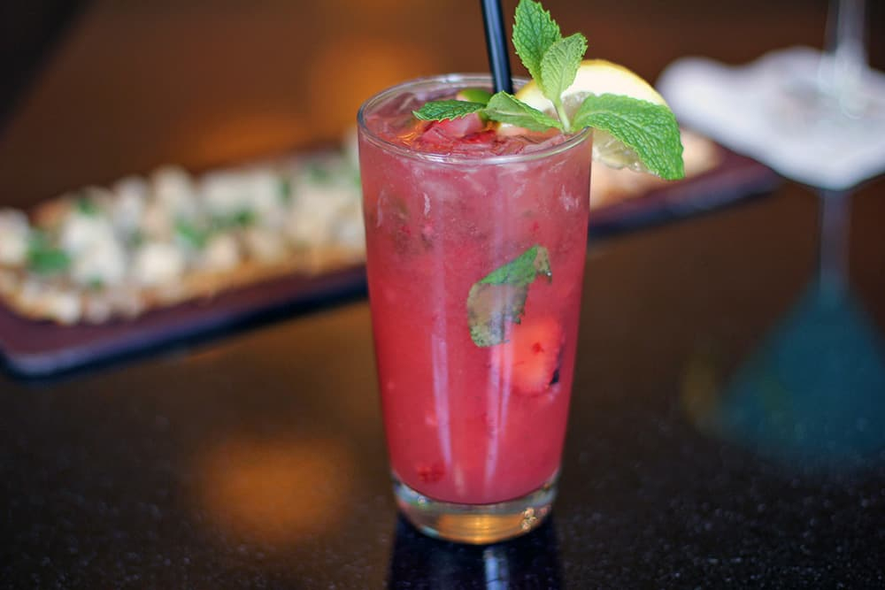 Bar Drink with Mint | Davenport Tower