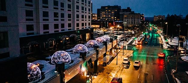 Davenport Grand | street at night