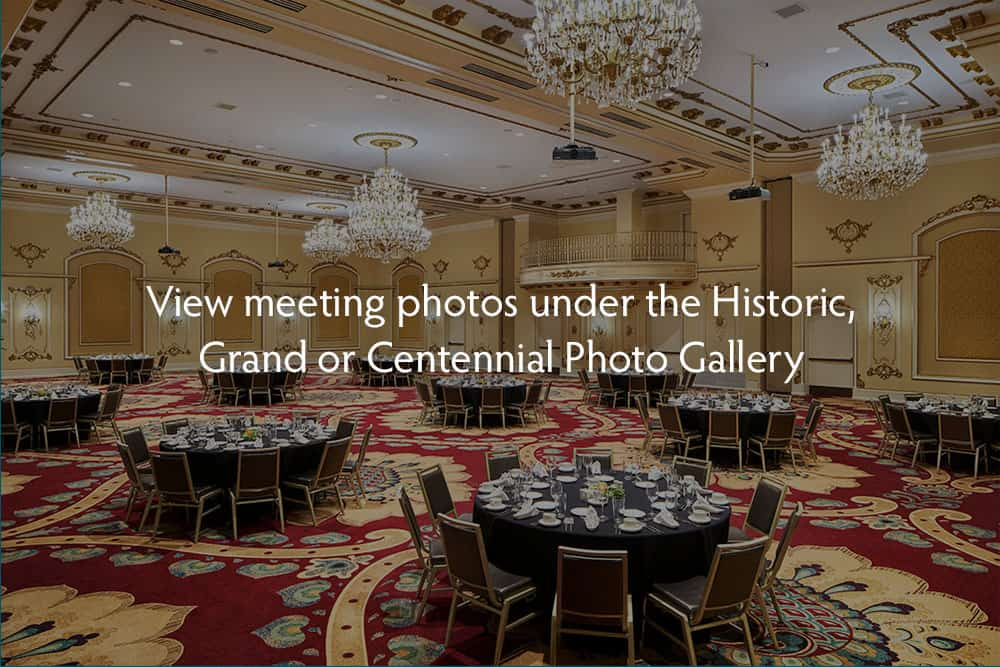 Meeting/Event hall | Tables and Chairs | Davenport Grand or Centennial